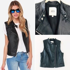Jack by BB Dakota Reeves Black Vegan Leather Vest